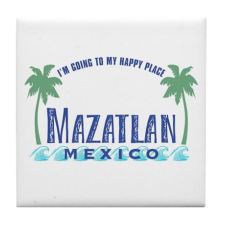 Mazatlan Happy Place - Tile Coaster