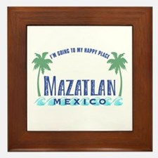 Mazatlan Happy Place - Framed Tile