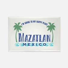 Mazatlan Happy Place - Rectangle Magnet