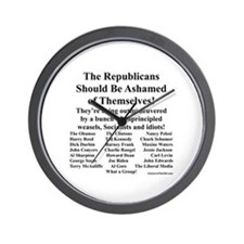 """Shame on Republicans"" Wall Clock"