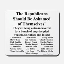 """Shame on Republicans"" Mousepad"