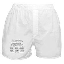"""Shame on Republicans"" Boxer Shorts"
