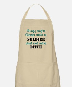 Sleep With A Soldier BBQ Apron