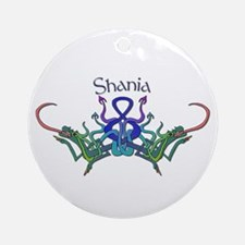 Shania's Celtic Dragons Name Keepsake (Round)