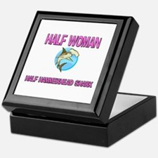Half Woman Half Hammerhead Shark Keepsake Box