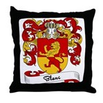 Blanc Family Crest Throw Pillow