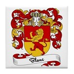 Blanc Family Crest Tile Coaster