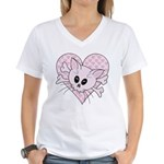 Kitty Bones Women's V-Neck T-Shirt