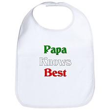 Papa Knows Best Bib