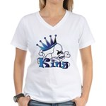 Skull King Women's V-Neck T-Shirt