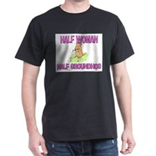 Half Woman Half Groundhog T-Shirt