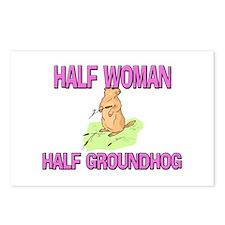 Half Woman Half Groundhog Postcards (Package of 8)