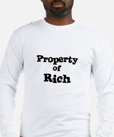 Property of Rich Long Sleeve T-Shirt