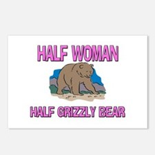 Half Woman Half Grizzly Bear Postcards (Package of