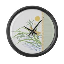 Dragonfly in Rice Field Giant Clock