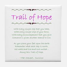 Trail of Hope Tile Coaster