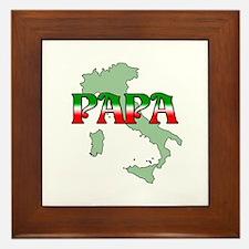 Papa Framed Tile