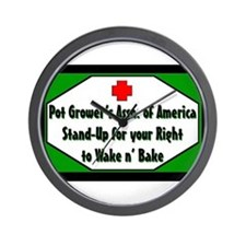POT GROWER'S OF AMERICA LOGO Wall Clock