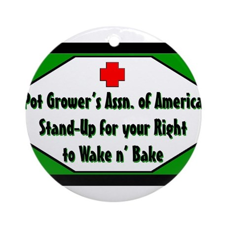 POT GROWER'S OF AMERICA LOGO Ornament (Round)