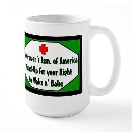 POT GROWER'S OF AMERICA LOGO Large Mug