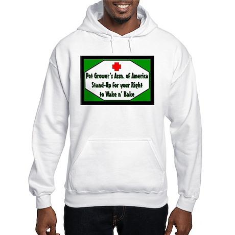 POT GROWER'S OF AMERICA LOGO Hooded Sweatshirt