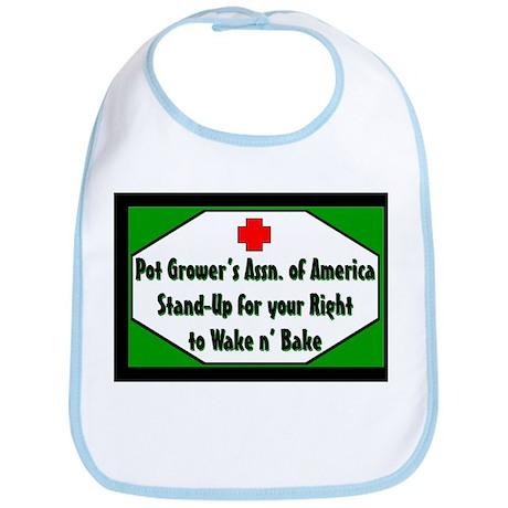 POT GROWER'S OF AMERICA LOGO Bib