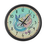 Fair Mermaid Giant Clock