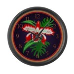 Exotic Orchid Giant Clock