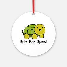 Speedy Turtle Ornament (Round)