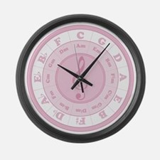 Pink Circle of Fifths Giant Clock