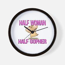Half Woman Half Gopher Wall Clock