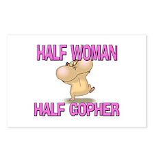 Half Woman Half Gopher Postcards (Package of 8)