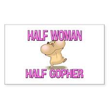 Half Woman Half Gopher Rectangle Decal
