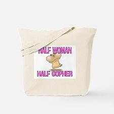 Half Woman Half Gopher Tote Bag