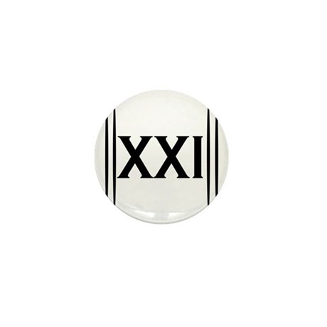21st Birthday Mini Button (100 pack)