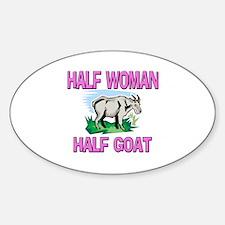 Half Woman Half Goat Oval Decal