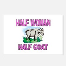 Half Woman Half Goat Postcards (Package of 8)