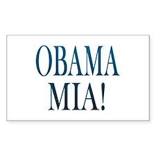 Obama Mia! Rectangle Decal