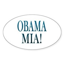 Obama Mia! Oval Decal