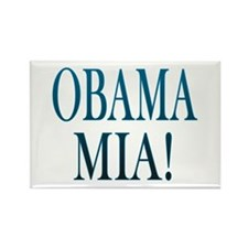 Obama Mia! Rectangle Magnet