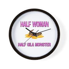 Half Woman Half Gila Monster Wall Clock