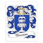 Bonneau Family Crest Small Poster