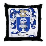Bonneau Family Crest Throw Pillow