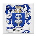 Bonneau Family Crest Tile Coaster