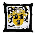 Bonnin Family Crest Throw Pillow