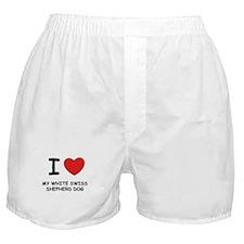 I love MY WHITE SWISS SHEPHERD DOG Boxer Shorts