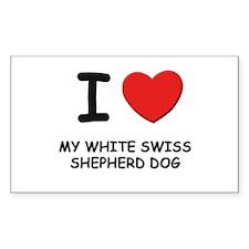 I love MY WHITE SWISS SHEPHERD DOG Decal