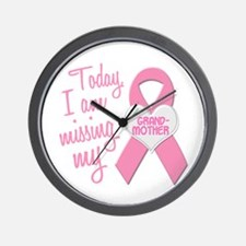 Missing My Grandmother 1 Wall Clock