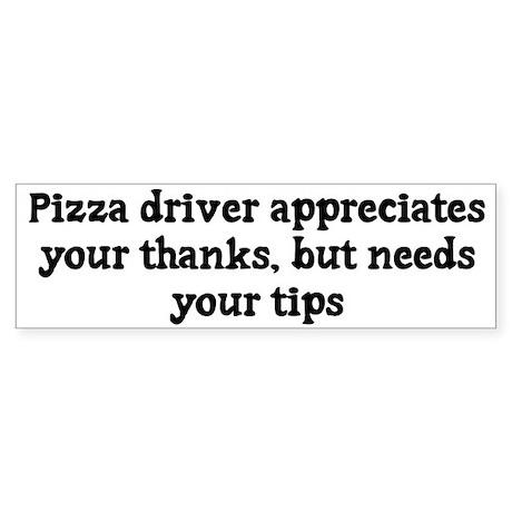 Pizza driver appreciates thanks, but needs tips