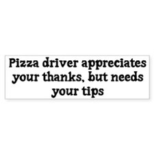 Pizza driver appreciates thanks, but needs tips